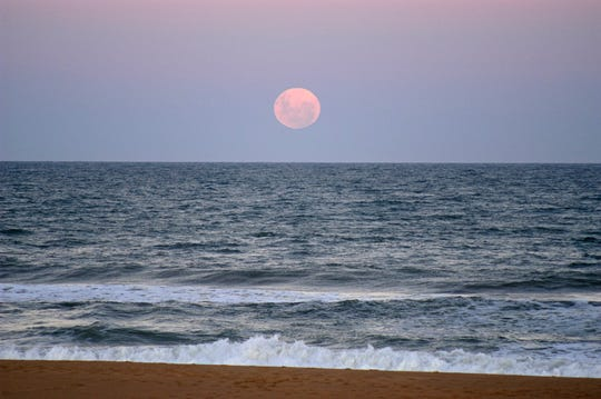 There's a snow moon rising over Lake Michigan, and the Schlitz Audubon Nature Center Sunday.