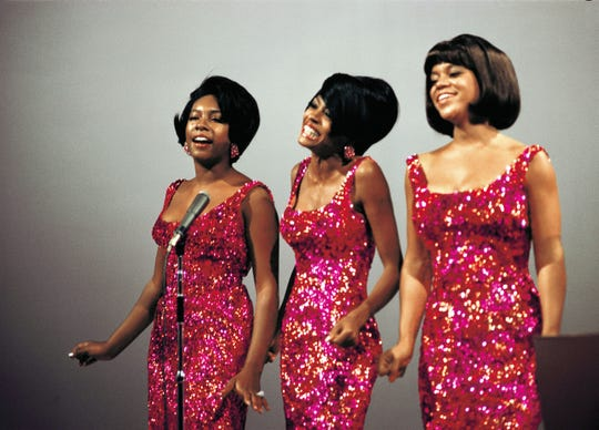 The Supremes, with members Mary Wilson, Diana Ross and Florence Ballard.