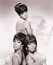 The Supremes were Mary Wilson (bottom left), Florence Ballard (top) and Diana Ross.