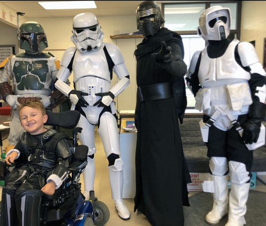 "Eli during ""Star Wars Day""  at the school."