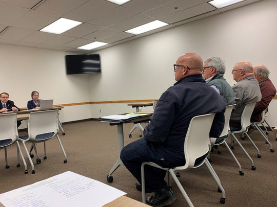 Refugee-Canyon Fire District officials met with Licking County Commissioners to discuss billing for dispatched calls on Tuesday, Jan. 14, 2020.