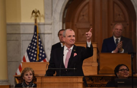 Gov. Phil Murphy delivers his annual State of the State address in Trenton on Tuesday, Jan. 14, 2020.