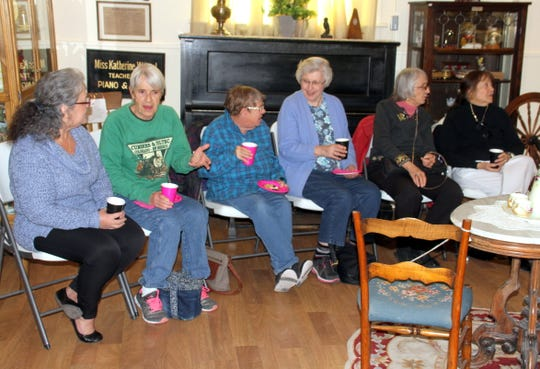 Mimbres Memorial Hospital Auxiliary members enjoy a Sunday afternoon at the Deming-Luna-Mimbres Museum.