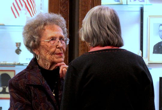 Virginia Pool shared some of her memories of the hospital auxiliary's history in Deming, NM.