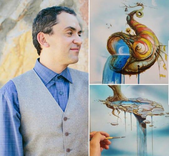 Luis Navarro and his art.