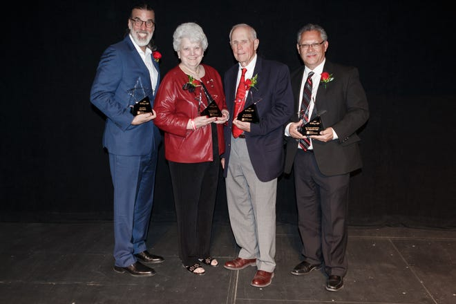 "2019 honorees of the College of Arts and Sciences ""A Starry Night"" gala are Don Foster, Star of the Arts; Wanda Bowman, Town and Gown Award, Price Kagey, Star of the Sciences; and Alejandro Lugo, Star of the Arts and Sciences."