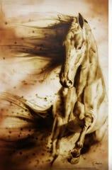 Luis Navarro artwork of a horse.
