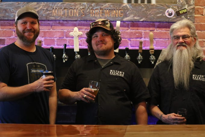 (left to right) Austin Weyant, Lucas Middleton and Danny Middleton, Jan. 13, 2020 at Milton's Brewing.