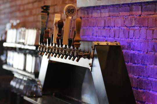 Beer taps are ready to pour, Jan. 13, 2020 at Milton's Brewing.