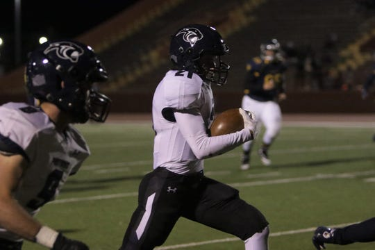 Piedra Vista's Tyler Wulfert, seen here playing against Highland on Friday, Oct. 25, 2019 at Milne Stadium in Albuquerque, is among four PV football players selected for the 2020 North versus South large-school All Star game.