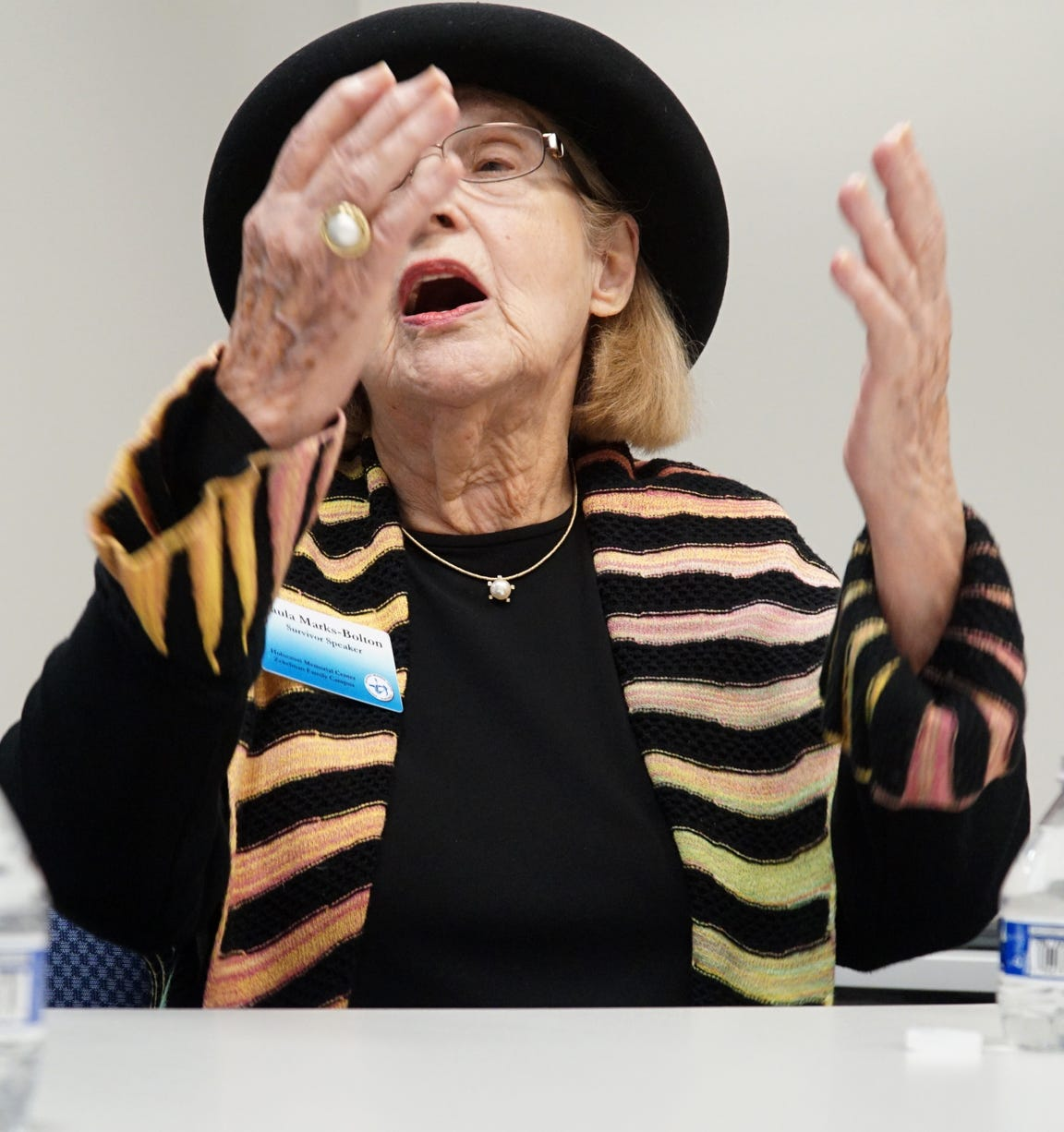 """As the Nazis and German Gestapo were emptying her Polish ghetto of Lodz and sending her brother off in a truck to an unknown destination Paula Marks-Bolton said that she """"prays to God to save her family"""". She never saw that brother and both parents again after she was separated from them - and eventually sent to Auschwitz. Another brother escaped to Russia and it took her 30 more years before she was reunited with him."""