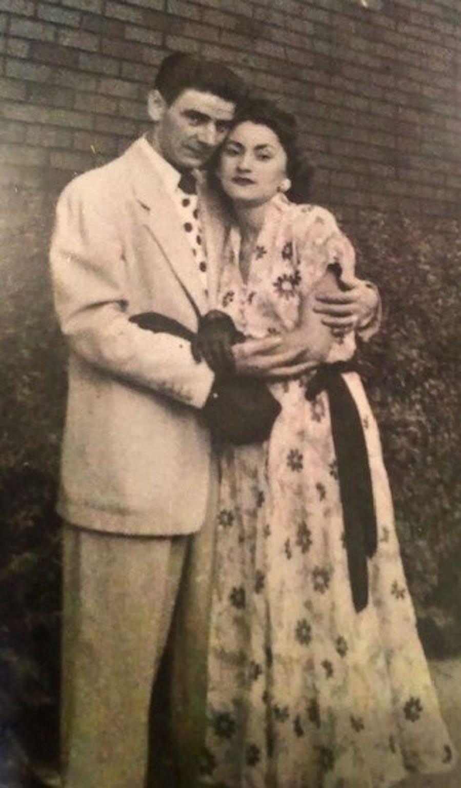 Sophie Klisman and her husband Bernard in the 1950s.