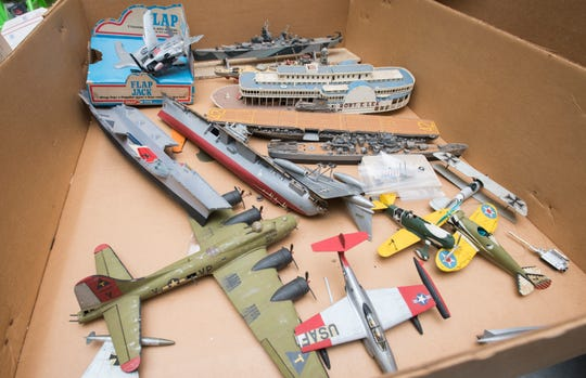 A box of vintage models is pictured earlier this month at Bobe's Hobby House on Nine Mile Road in Pensacola.