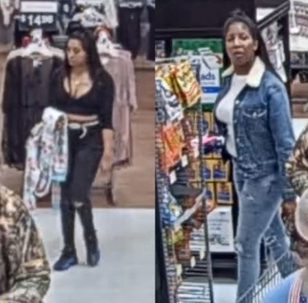 The Escambia County Sheriff's Office has asked the public for assistance identifying two women suspected of stealing credit cards at Sacred Heart Hospital in November.