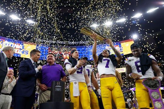LSU se llevó el título cortando la racha impresionante de 29 triunfos consecutivos que ostentaba Clemson, el campeón defensor.