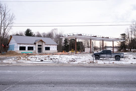 Construction began in late July for a new Sunoco gas station at 6349 Lapeer Road in Kimball. The franchise owners hope to have it open by the end of February.