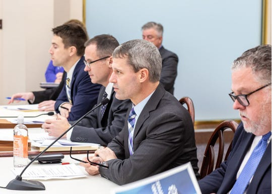 Rep. Rob Kauffman, R-Chambersburg, chairman of the House Judiciary Committee, led a voting meeting of the committee to move a package of bills aimed at combating the crime of human trafficking.