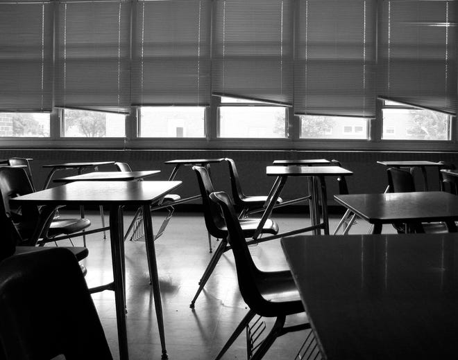 (Logo) empty classroom, truancy. York City School District has struggled with student truancy issues, recently remarking a need for more school attendance officers. The district is considering a grant-funded partnership with York City Police for a truancy officer to help with particularly difficult cases.