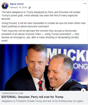 A February Facebook post from Steve Ulrich, the county's new director of its Office of Elections and Voter Registration.