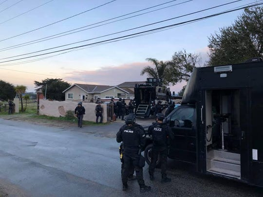 Salinas Police's Violence Supression Task Force arrested Javier Placencia, 21, on New Years Day. Jan. 14, 2019.