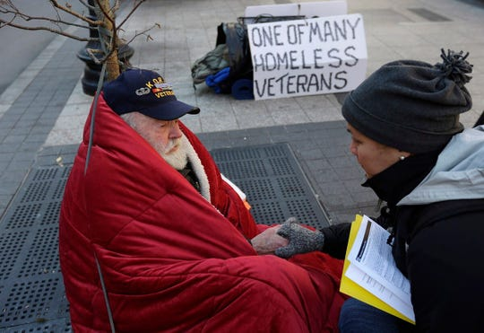 In 2014, an average of 20 Veterans died from suicide each day and experts say only six of the 20 were users of VA health care services. With a suicide rate of 81 per 100,000, homeless Veterans are particularly vulnerable.