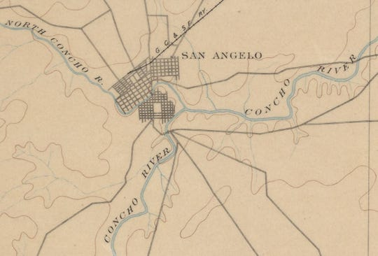 In the early days of San Angelo, the Concho River was a completely unimproved and undeveloped waterway, and the banks were lined with thorny flora and fanged fauna, which were a very-real threat for pioneer picnickers.