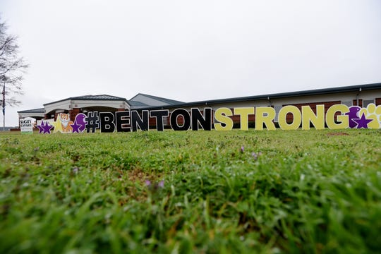 Benton Middle School is recovering from the storm damage on Saturday, Jan. 11, 2020.