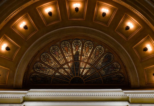 People walk across the gallery of the House Chamber before the annual State of the State address on Tuesday, Jan. 14, at the State Capitol in Pierre.