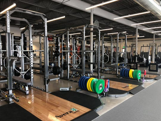 Weight machines at Avera's Human Performance Center, which opened Jan. 6, 2020.