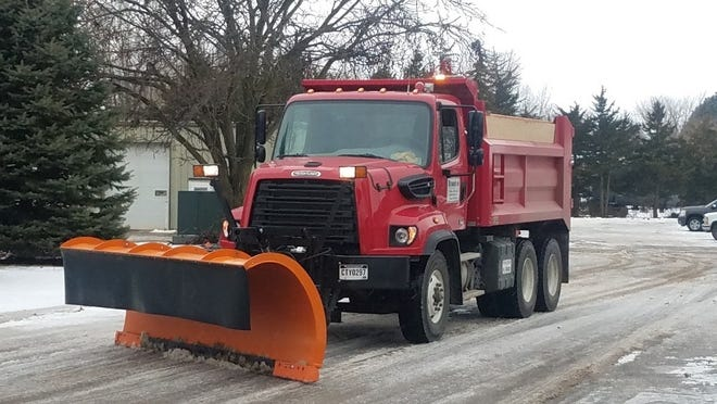 A Brandon snow plow clear the streets after a snow hit the city earlier this year.