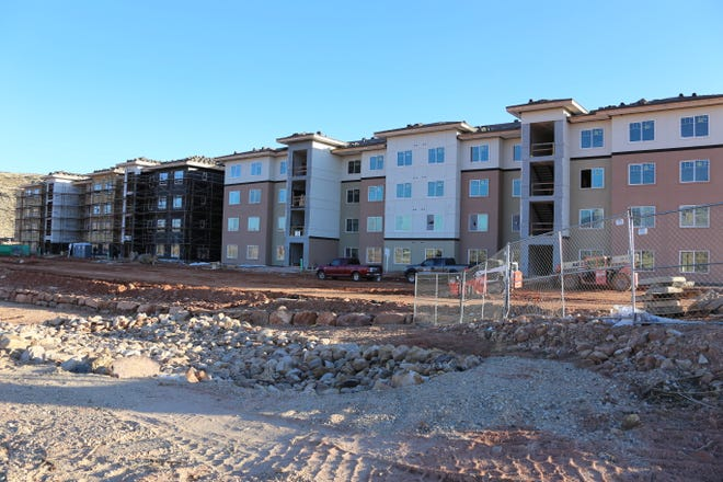 The Red Rock at Sienna Hills in Washington City. This apartment building has 258 units and qualified tenants must be earning 60% or less of the area median income. Some units will be available starting spring 2020, with the entire building being completed early 2021.