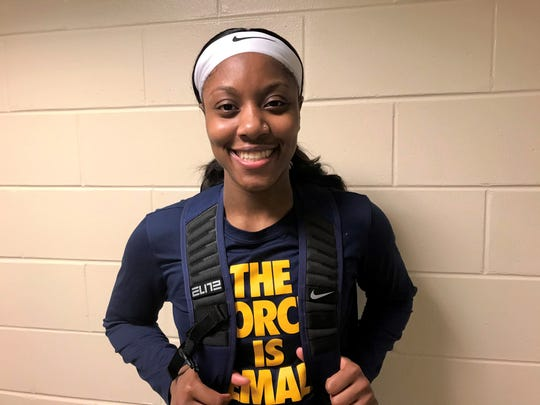 Former TCC star Aliyah Lawson returned to Tallahassee as a member of the women's basketball team at Coppin State on Monday, Jan. 13, 2020. Her new team lost to FAMU 58-48.