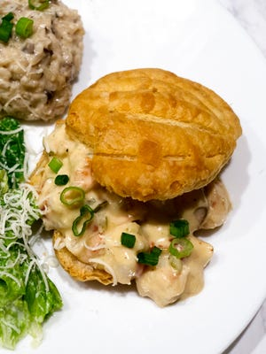 Shrimp Newburg in Puff Pastry Shells is an easy, elegant entrée for a special dinner.