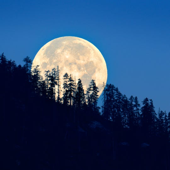 October will have two full moons this year. A second full moon in the same calendar month is called a blue moon.