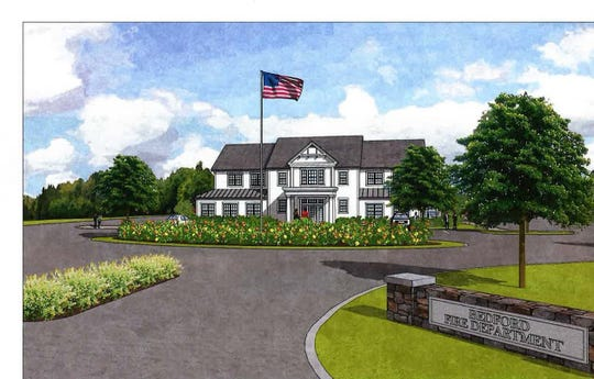 The proposed Bedford Village firehouse, located on Route 22, just south of the intersection with Route 172.