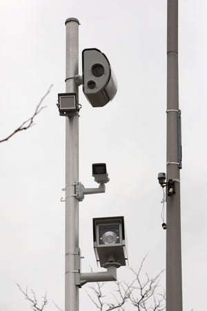 A red light camera on Westchester Avenue near the South Kensico Avenue intersection in White Plains Jan. 14, 2020.