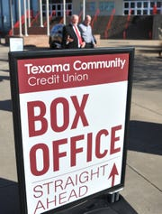 Texoma Community Credit Union announced, Tuesday morning, during a ribbon-cutting ceremony that they would be the official sponsors of the MPEC box offices.