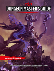 "The ""Dungeon Master's Guide"" for fifth edition Dungeons & Dragons."