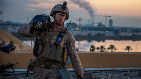 U.S. Marine in Baghdad, Iraq, on Jan. 4, 2020.