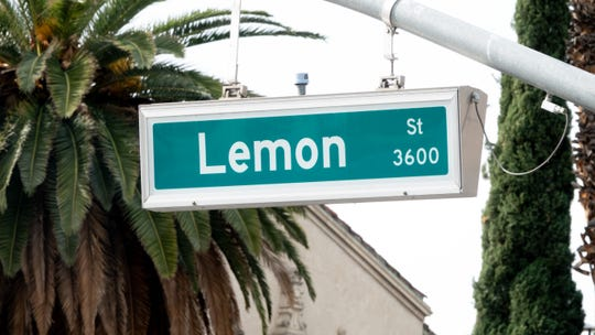 Lemon street in Riverside