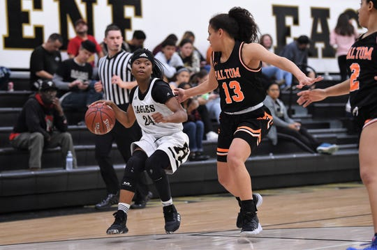 "Abilene High junior Trakenya ""K.K."" Roberson was a Class 6A all-state selection by the Texas Girls Coaches Association."