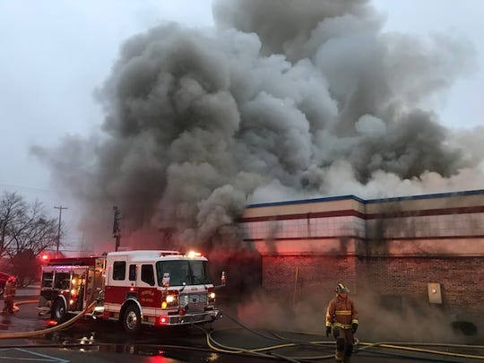 A fire broke out at the KFC restaurant on Capital Avenue Northeast in Pennfield Township on Wednesday, Jan. 15, 2020.