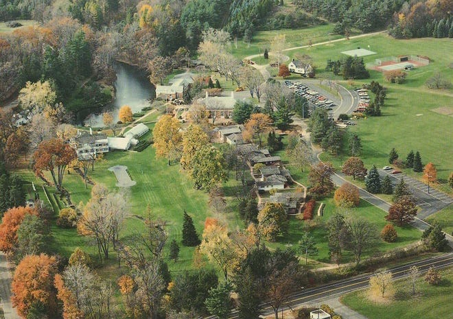 An undated aerial view of Brook Lodge in Augusta.