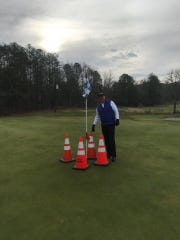 Black Mountain Golf Course employees made it a little more difficult for Jerry Hood to ace No. 3 a day after his hole-in-one on the same hole.