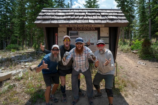 West Melbourne resident Matt Favero (second from left) is featured in the film 'Highline,' about five friends who trek across Utah's Uinta Highline Trail. The film premiered in Utah in January, and will have a special screening at CinemaWorld in West Melbourne on Feb. 28, 2020. Visit highlinefilm.com.