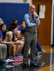 Heritage girls basketball coach Colin Turey
