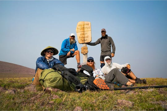 Brevard resident Matt Favero (back row, right) is featured in the film 'Highline,' about five friends who trek across Utah's Uinta Highline Trail. The film will have a special screening at CinemaWorld in West Melbourne on Feb. 28, 2020. Visit highlinefilm.com.