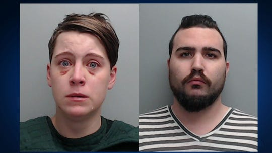 A couple from Buda were arrested for aggravated assault with a deadly weapon after getting into a sword fight at an apartment last week.