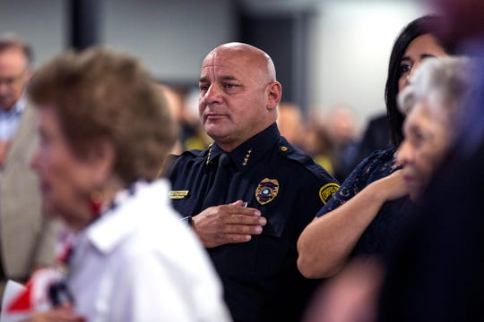 Chief Mike Markle provided the behind-the-badge perspective at the Corpus Christi Police Foundation's Breakfast with the Chief at the Congressman Solomon P. Ortiz International Center on Tuesday, Jan. 15, 2020.