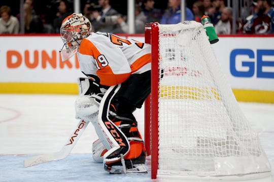 Carter Hart will miss 2-3 weeks with a lower right abdominal strain, the Flyers announced Wednesday.